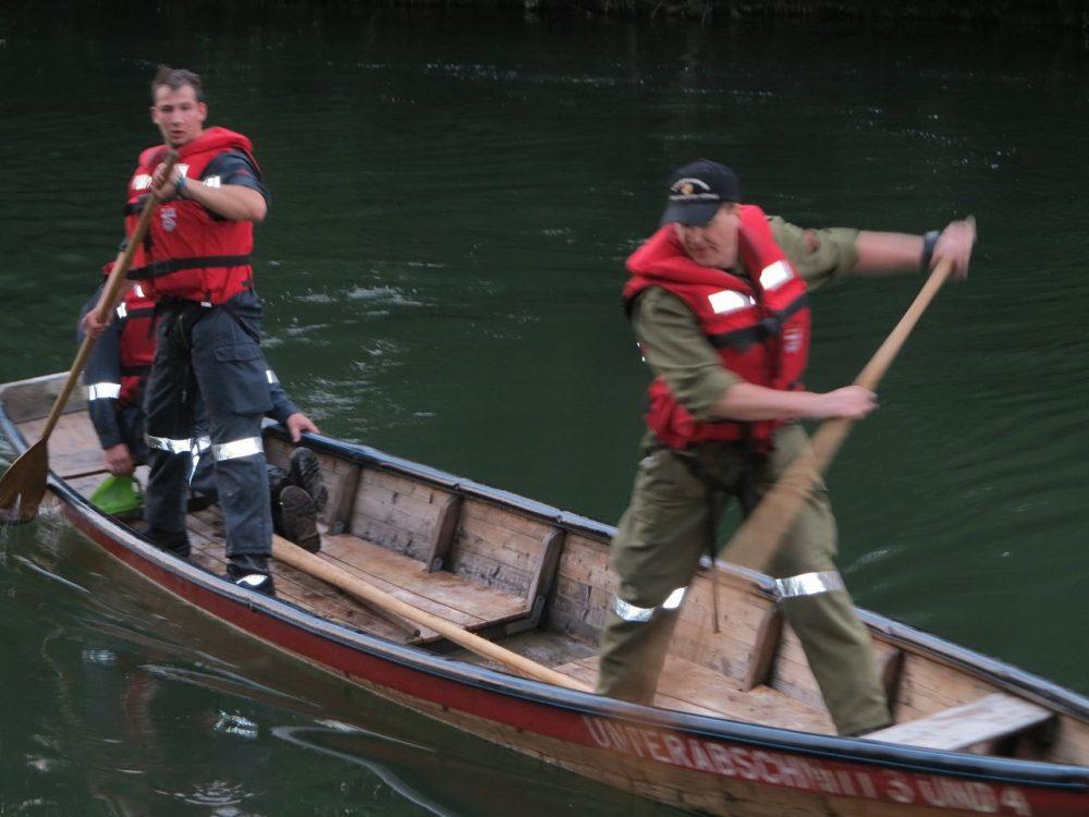 Wasserdienstübung auf der Ybbs
