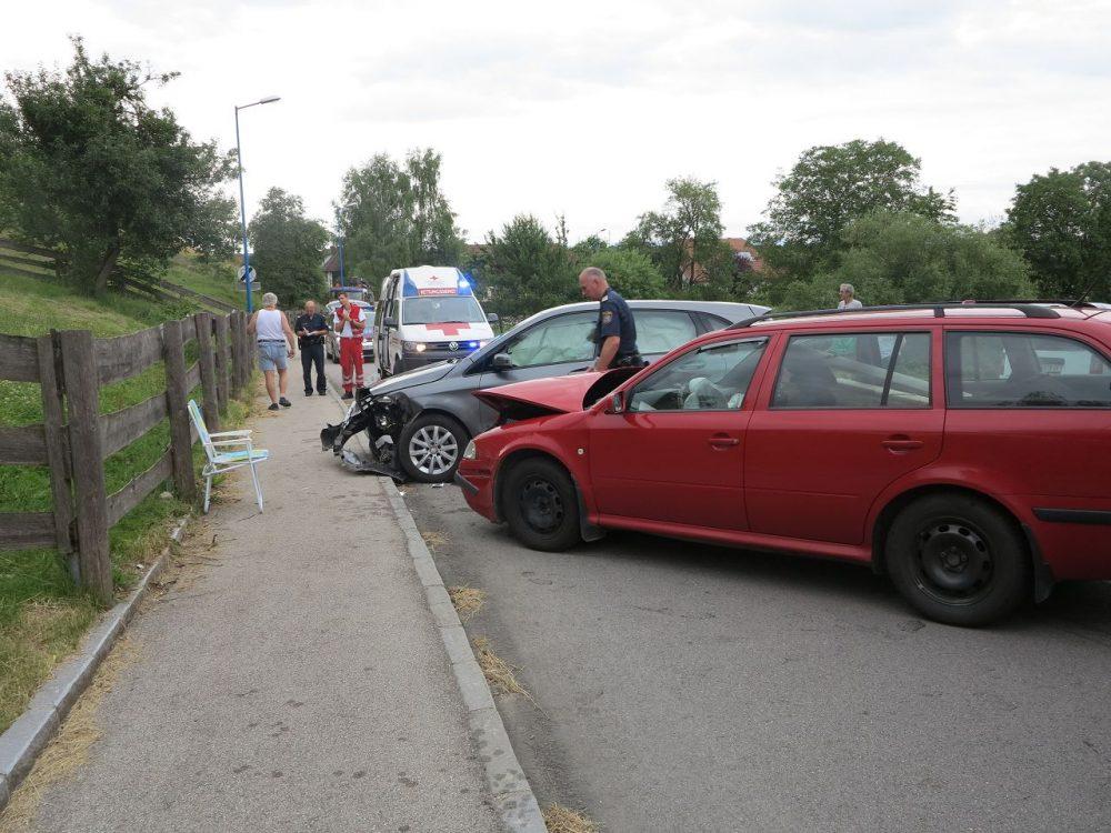 Verkehrsunfall auf der L6204 in Gimpersdorf