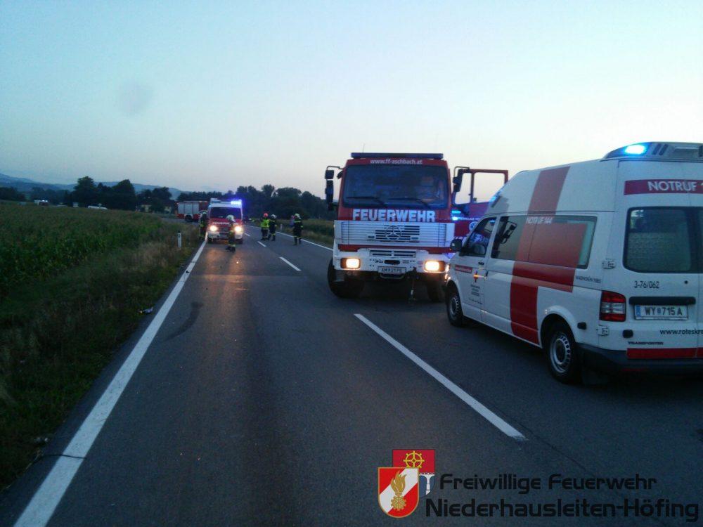 Verkehrsunfall B122, km 5,30