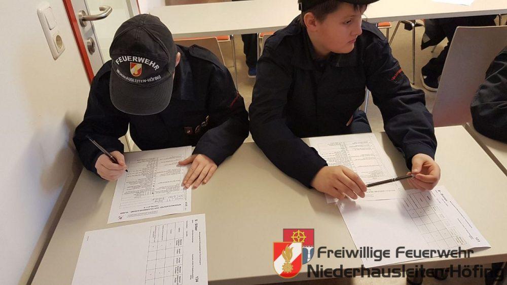 Wissenstest/Wissenstestspiel der Feuerwehrjugend