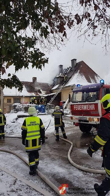Dachstuhlbrand in Kröllendorf