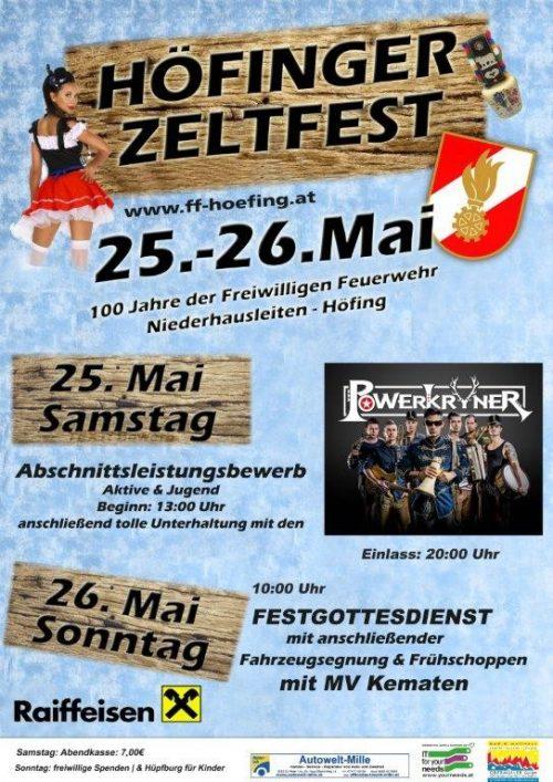 Höfinger Zeltfest mit Fahrzeugsegnung des HLF1-VF